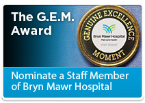 The G.E.M. Award - Nominate a Staff Member of Bryn Mawr Hospital