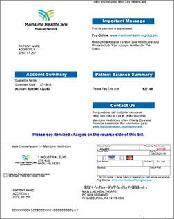 Legacy Billing | Patient Billing | Patient Services | Main Line