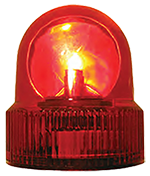 Red emergency light that can be found on top of emergency vehicles