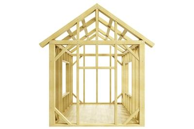 Wood framing of a shed/small house