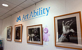 gallery wall at Art Ability 2013