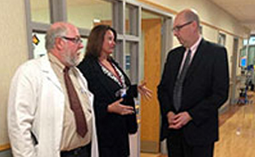 David F. Long, MD, Annette Houseworth and PA Secretary of Health Michael Wolf