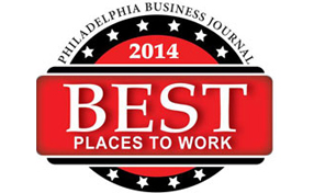 Philadelphia Business Journal Best Places to Work 2014 logo