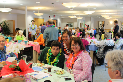 A snapshot of the volunteers celebrating at the volunteer appreciation lunch