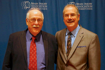 David Long (left) with attendee at the 2017 Brain Injury Association of Pennsylvania's Annual Conference