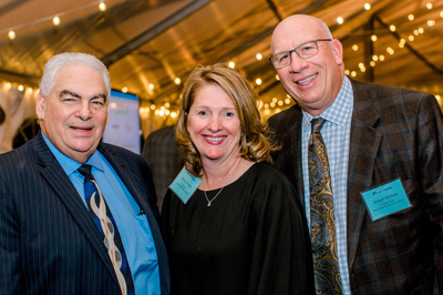 (From left) Sheldon Gross, vice chair, Bryn Mawr Rehab Hospital (BMRH) Board; Donna Phillips, president, BMRH; and Joseph McHale, chair, BMRH Board