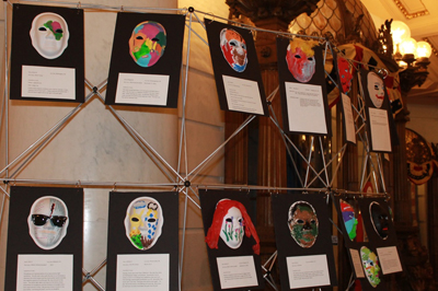 The Unmasking Brain Injury display at the rally