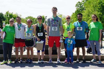 Group of racers at Race to Recovery 2019