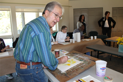 Sal Panasci leading a watercolor workshop