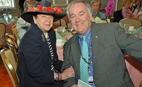 MLH auxiliaries luncheon attendee with President Jack Lynch