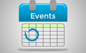 blank calendar page that say events at the top