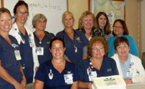 group of nurses at Paoli Hospital in the Progressive Care Unit
