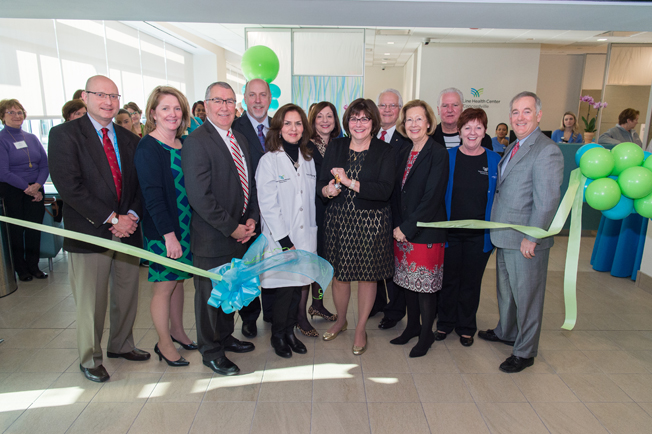 A group of Main Line Health leadership at the ribbon cutting for Main Line Health Center at Concordville