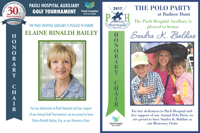 PHA event honorary chairs: Elaine Rinaldi Bailey and Sandra Baldino