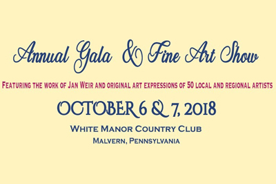 Annual gala and fine are show - October 6 and 7, 2018 - White Manor Country Club