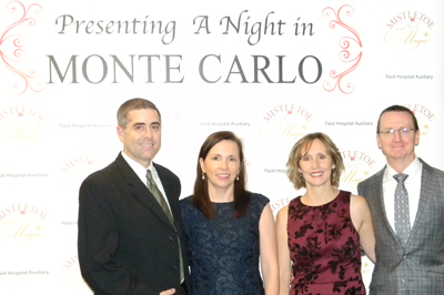 Four attendees of a night in Monte Carlo