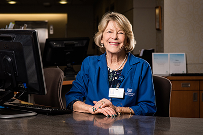 Patience Rathbun, volunteer, Paoli Hospital
