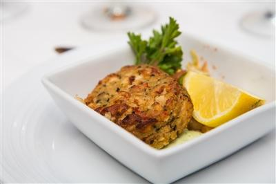 Avocado crab cake