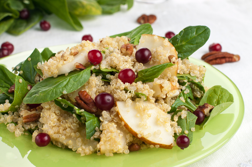 Pear and quinoa salad
