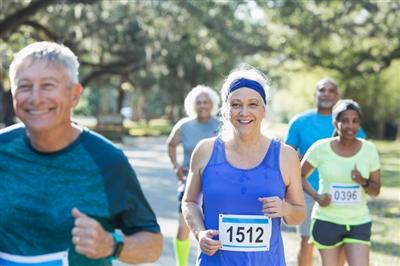 Older adults running race