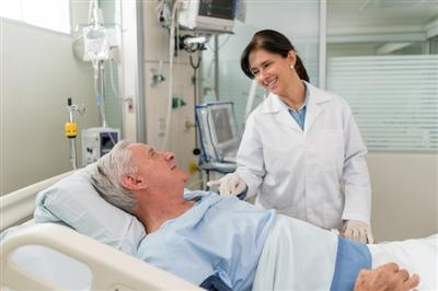 Doctor caring for patient