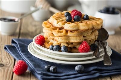 Cauliflower waffles