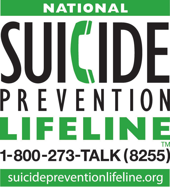 National Suicide Prevention Lifeline 1.800.273.TALK (8255) suisidepreventionlifeline.org