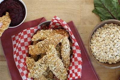 Oat Crusted Chicken Tenders