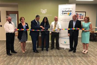LGBTQ Inclusive Care ribbon cutting
