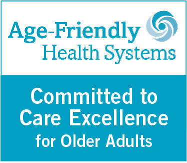 Age-Friendly Health Systems, committed to care excellence for older adults logo