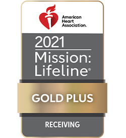 American Heart Association - Mission: Lifeline gold plus receiving