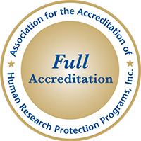 Association for the accreditation of Human Research Protection Programs, Inc. full accreditation badge