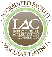 Intersocietal Accreditation Commission vascular testing accredited facility seal