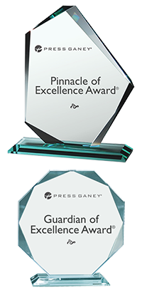 Press Ganey Pinnacle of Excellence Award and Guardian of Excellence Award