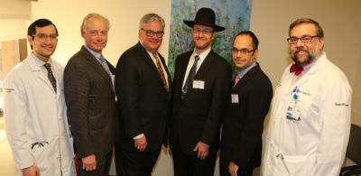"""Eric Bondarsky, Stephen M. Gollomp, Phil Robinson, Rabbi Avraham Shmiodman, William D. Surkis"""
