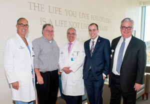 """Dr. Francis Sutter, Tim Briggs; Dr. Patrick Ross, Charles Boruchowitz and Phil Robinson"""