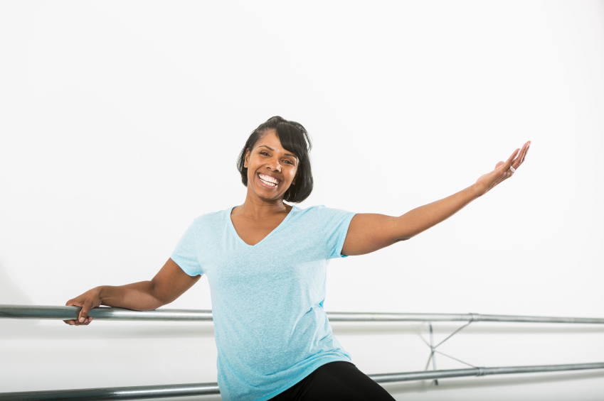 African American woman in dance studio