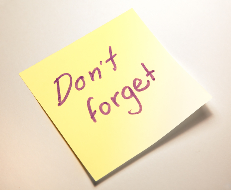 Don't forget post-it note