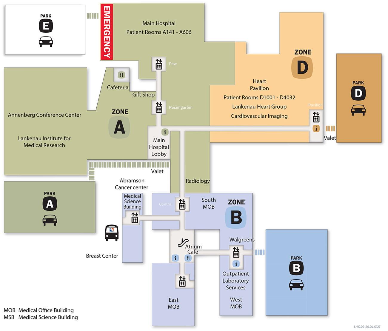 Campus Map Lankenau Medical Center Locations Main Line Health Philadelphia Pennsylvania
