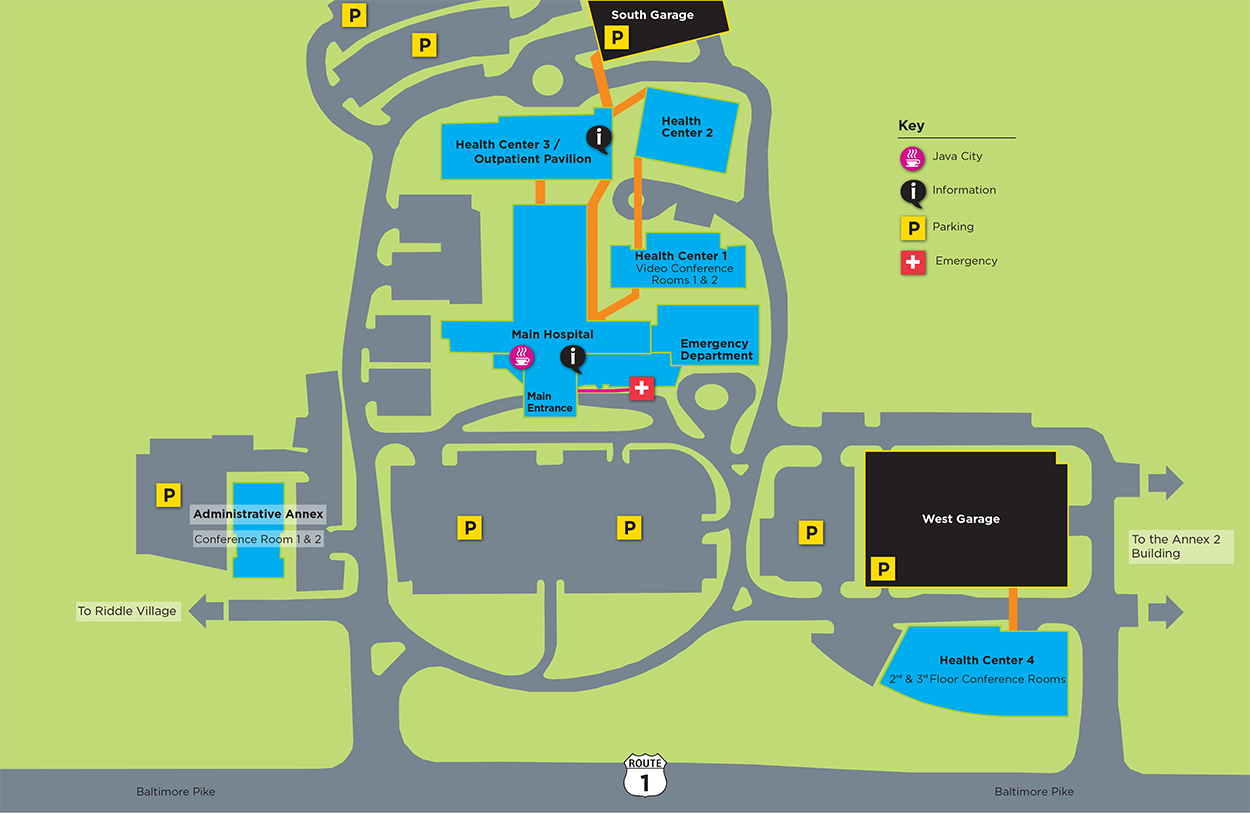 Riddle Hospital Campus Map