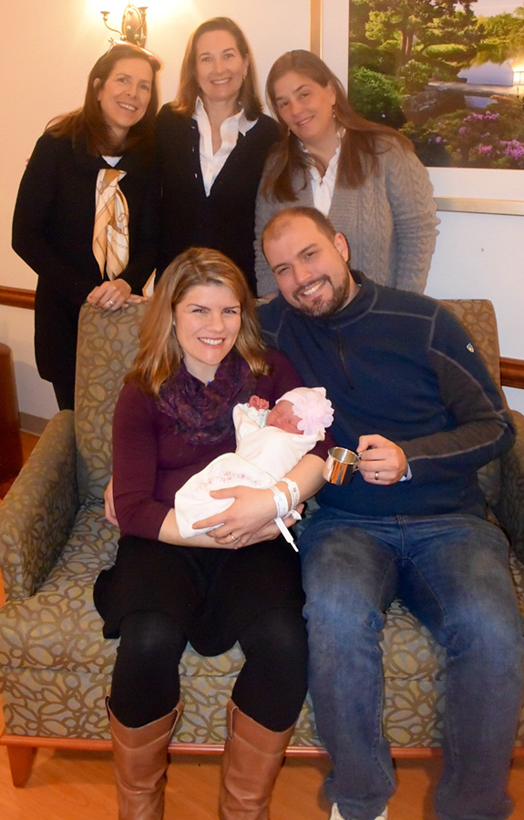 baby Magdalena Sofia with parents Kristina and Jonathan and Women