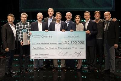 Basil Harris, MD and his team, Final Frontier Medical Devices, took home the top prize of $2.5 million in Qualcomm's XPRIZE competition