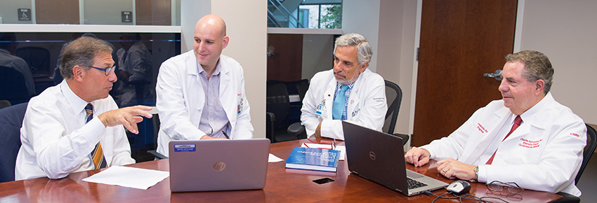 (From left) Mark Cohen; Itai Weissberg, MD, PhD; Peter Kowey, MD; and Charles Antzelevitch, PhD