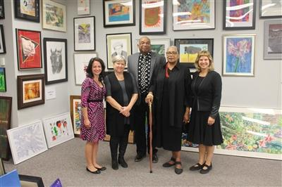 (From left) Cristine Largoza, Nancy Campbell, Sherman Fleming, A.M. Weaver and Amie Potsic