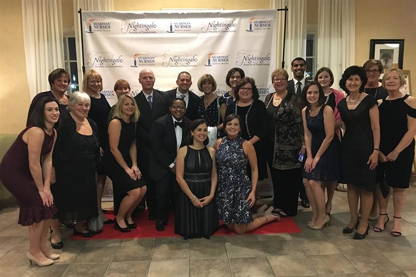 Main Line Health staff celebrates at this year's Nightingale Award ceremony on November 3, 2017