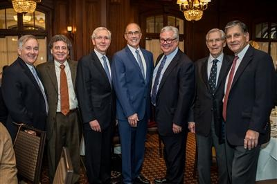 (From L to R) Jack Lynch, FACHE; Robert Schnall, MD; Frank McGeehin III, MD; Francis Sutter, DO; Phil Robinson; Horace MacVaugh III, MD; and Alex Uribe, MD