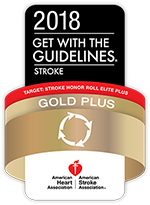 2018 AHA/ASA Get with the Guidelines Stroke Gold Plus Honor Roll Elite award