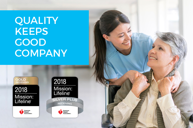 Quality keeps good company, 2018 Mission: Lifeline Gold Receiving and Silver Plus Receiving