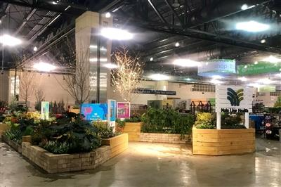 Main Line Health set up at the Philadelphia Flower Show 2019