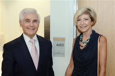 Richard and Ann Frankel tour the new space. The Frankels were instrumental in fostering the relationship between Abramson Senior Care and Main Line Health.
